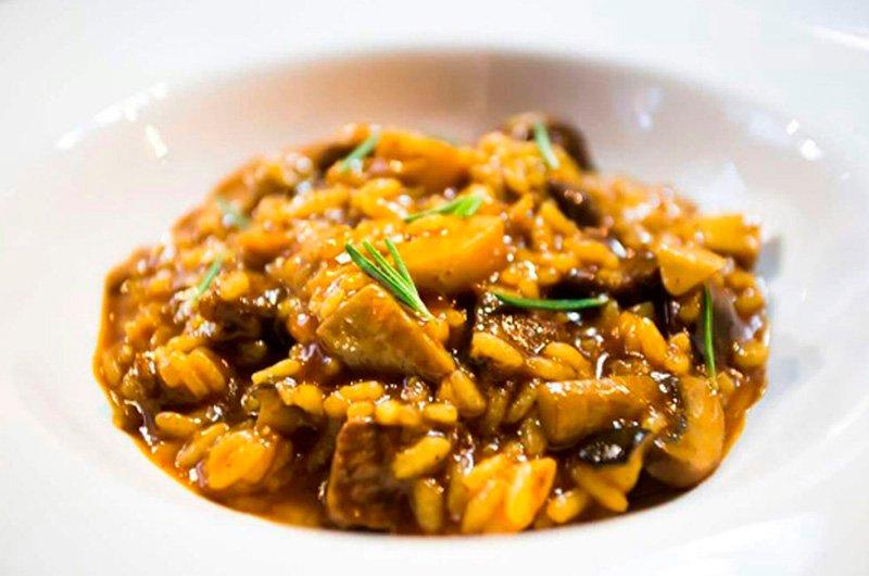 receta de arroz meloso con saltamontes