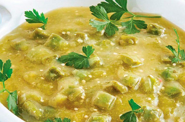 Receta de Receta escamoles en salsa verde